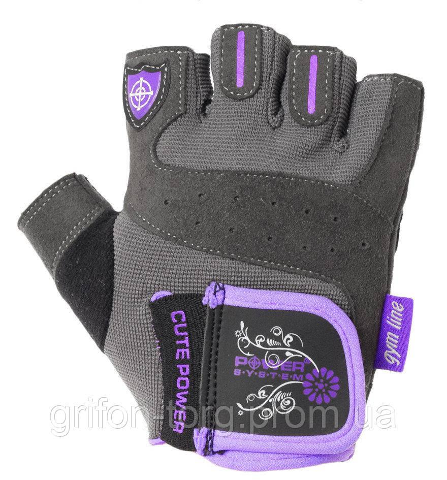 Рукавички для фітнесу і важкої атлетики Power System Cute Power PS-2560 жіночі Purple XL