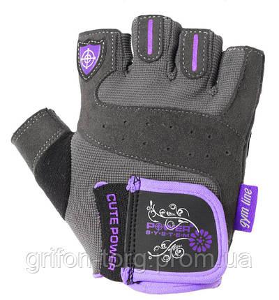 Рукавички для фітнесу і важкої атлетики Power System Cute Power PS-2560 жіночі Purple XL, фото 2