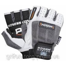 Рукавички для фітнесу і важкої атлетики Power System Fitness PS-2300 Grey/White XS, фото 3