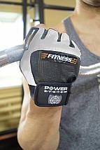 Рукавички для фітнесу і важкої атлетики Power System Fitness PS-2300 Grey/White L, фото 3