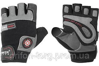 Рукавички для фітнесу і важкої атлетики Power System Easy Grip PS-2670 Black/Grey M, фото 2