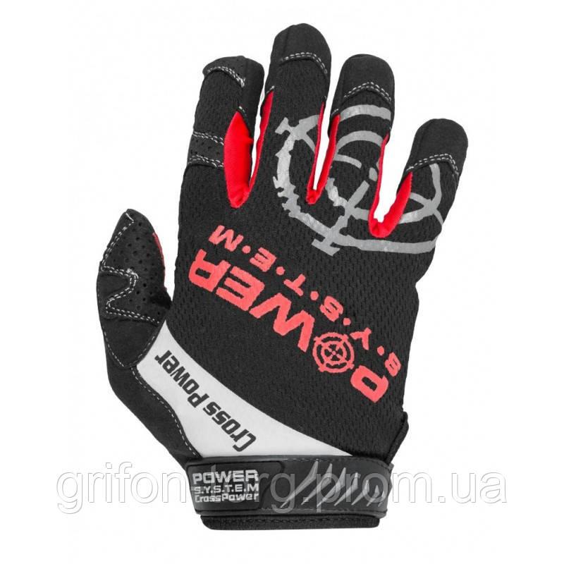 Рукавички для кроссфіт з довгим пальцем Power System Cross Power PS-2860 Black/Red S
