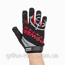 Рукавички для кроссфіт з довгим пальцем Power System Cross Power PS-2860 Black/Red S, фото 2