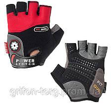 Рукавички для фітнесу і важкої атлетики Power System Fit Girl Жіночі PS-2900 Black/Red S, фото 2