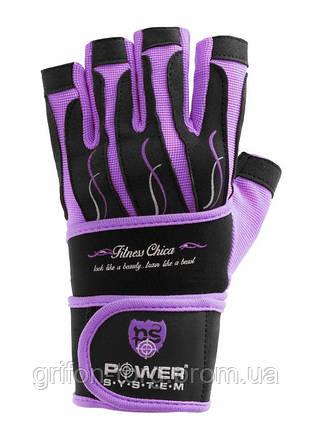 Рукавички для фітнесу і важкої атлетики Power System Fitness Chica жіночі PS-2710 Purple L, фото 2