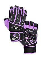 Рукавички для фітнесу і важкої атлетики Power System Fitness Chica жіночі PS-2710 Purple L, фото 3
