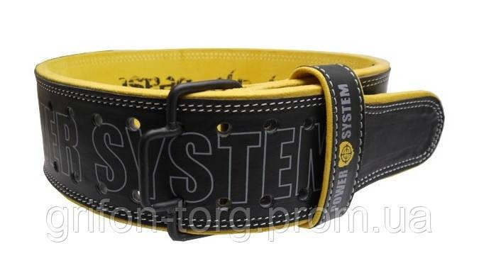 Пояс для важкої атлетики Power System Beast PS-3830 Black/Yellow M, фото 2