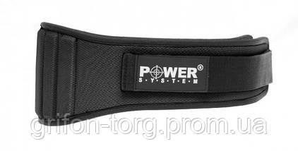Неопреновий Пояс для важкої атлетики Power System Neopren PS-3200 Black S, фото 2