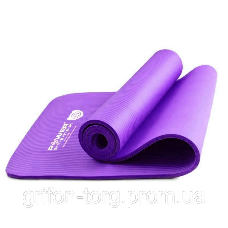 Килимок для йоги та фітнесу Power System PS-4017 Fitness-Yoga Mat Purple
