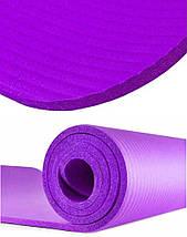 Килимок для йоги та фітнесу Power System PS-4017 Fitness-Yoga Mat Purple, фото 3