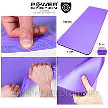 Килимок для йоги та фітнесу Power System PS-4017 Fitness-Yoga Mat Purple, фото 2