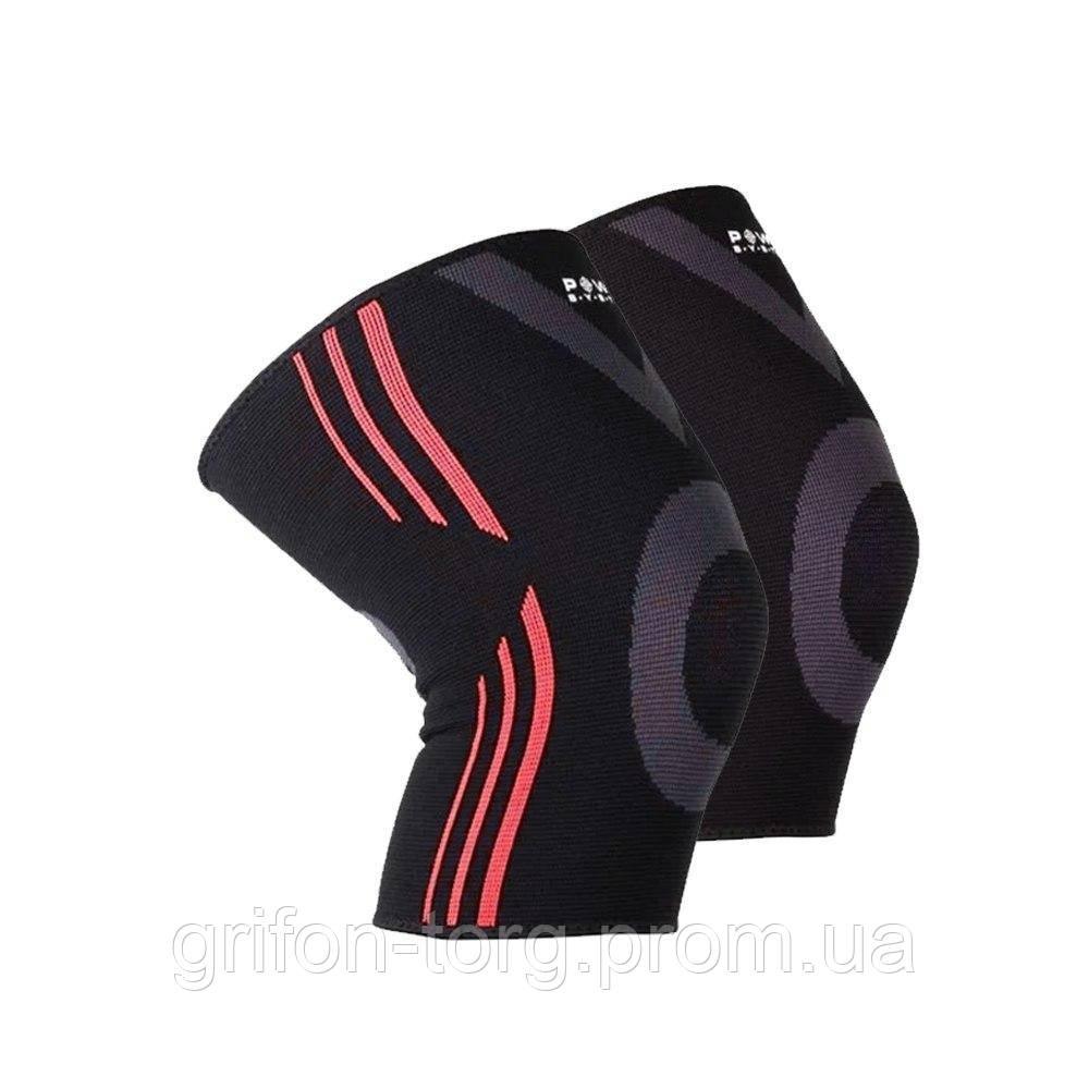 Наколінники спортивні Power System Knee Support Evo PS-6021 Black/Orange L