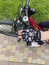 Велорукавички дитячі PowerPlay 5454 Череп XS, фото 2