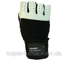 Рукавички для фітнесу PowerPlay 1069 Чорно-Білі S, фото 2
