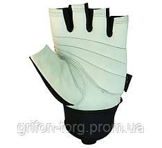 Рукавички для фітнесу PowerPlay 1069 Чорно-Білі L, фото 3
