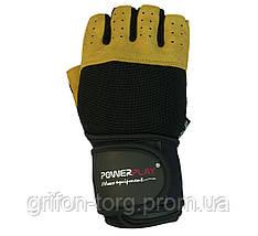 Рукавички для фітнесу PowerPlay 1069 А Чорно-Коричневі S, фото 2