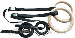 Кільця гімнастичні Power System Wooden Gymnastic Rings PS-4048