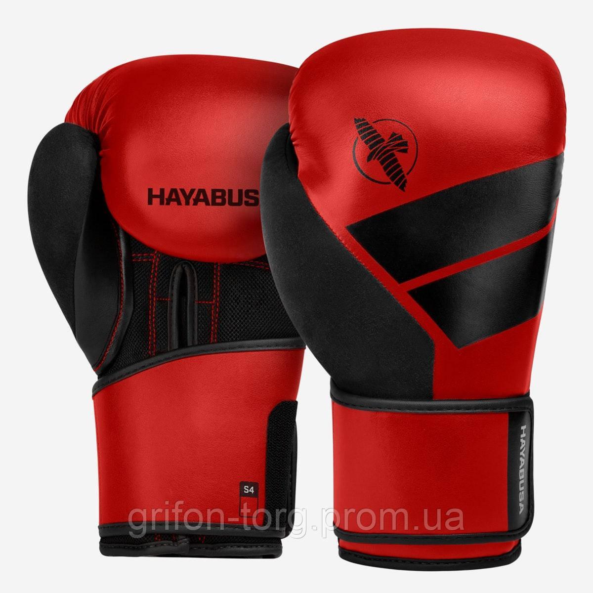 Боксерські рукавички Hayabusa S4 - Червоні 16oz (Original) L Шкіра