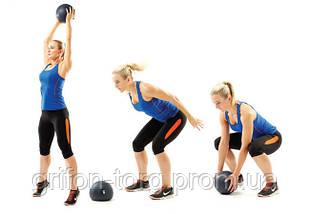 М'яч SlamBall для кросфита і фітнесу Power System PS-4115 5кг рифлений, фото 3