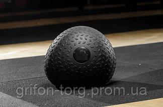 М'яч SlamBall для кросфита і фітнесу Power System PS-4115 5кг рифлений, фото 2