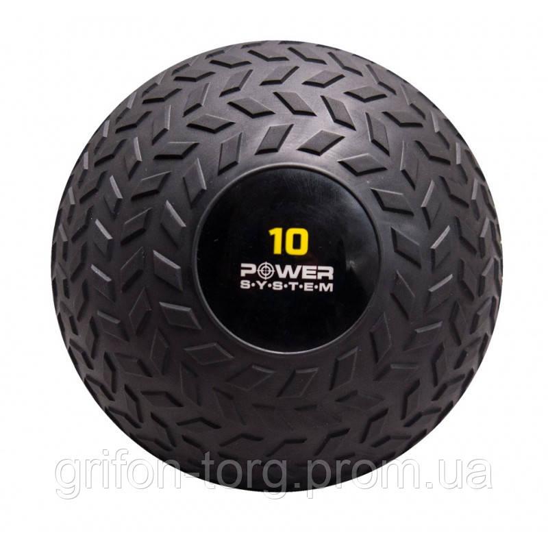 М'яч SlamBall для кросфита і фітнесу Power System PS-4116 10кг рифлений