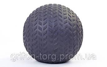 М'яч SlamBall для кросфита і фітнесу Power System PS-4116 10кг рифлений, фото 2