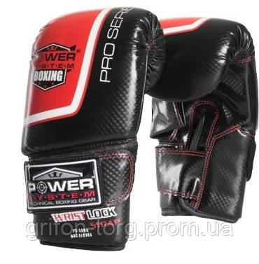 Снарядні рукавички, битки Power System PS 5003 Bag Gloves Storm Black/Red L