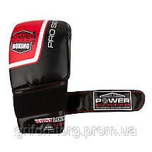 Снарядні рукавички, битки Power System PS 5003 Bag Gloves Storm Black/Red L, фото 2