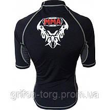 Рашгард для MMA Power System 002 Dragon XL Black/Grey, фото 2