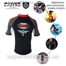 Рашгард для MMA Power System 004 Scorpio S Black/Red, фото 2