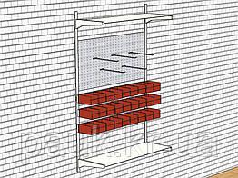 Стелаж в майстерню Н1450х950 мм(МЯ), настінний металевий стелаж