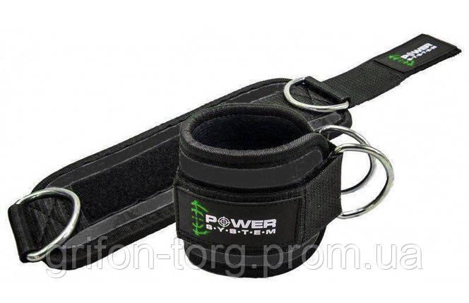 Манжети на щиколотку Power System Ankle Strap Gym Guy PS-3460 Green, фото 2