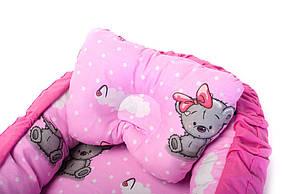 Детская кроватка гнездышко кокон для новорожденных Kospa Медведи Rose, фото 2