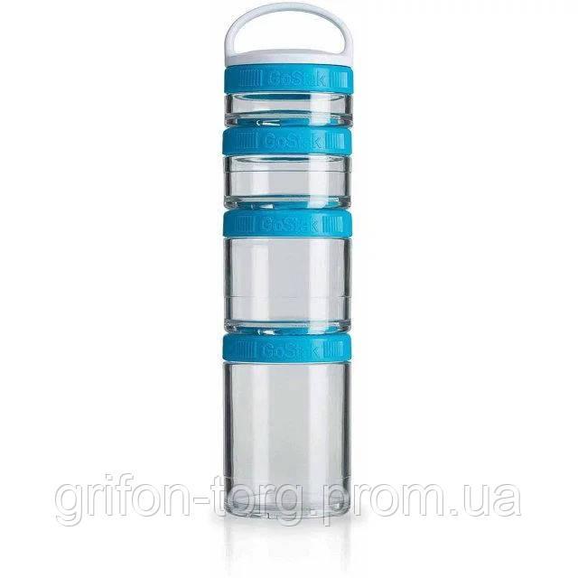 Контейнер спортивний BlenderBottle GoStak Starter 4 Pak Aqua (ORIGINAL)