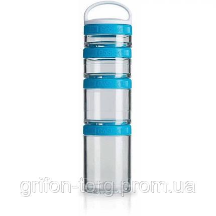 Контейнер спортивний BlenderBottle GoStak Starter 4 Pak Aqua (ORIGINAL), фото 2