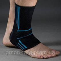 Спортивні бандажі на голеностоп Power System Ankle Support Evo PS-6022 Black/Blue XL, фото 2