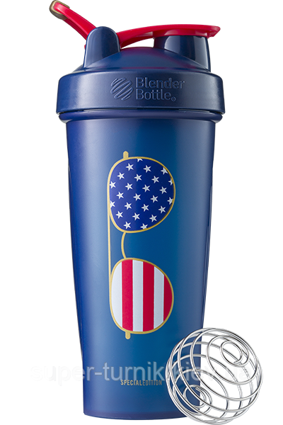 Шейкер спортивний BlenderBottle Classic Loop 28oz/820ml Special Edition Freedom Blue (ORIGINAL)