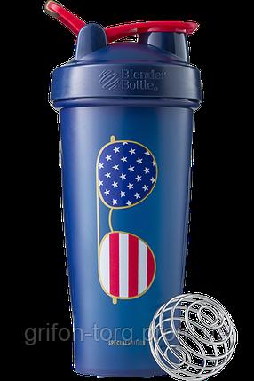 Шейкер спортивний BlenderBottle Classic Loop 28oz/820ml Special Edition Freedom Blue (ORIGINAL), фото 2