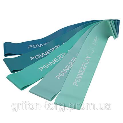 Фітнес гумки набір із 5шт PowerPlay 4113 Зелені, фото 2