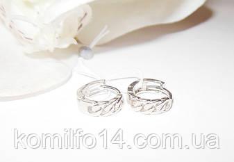 Детские серебряные серьги без камней, фото 2