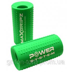 Розширювачі грифа Power System Max Gripz PS-4056 M 10*5 см Green (розширювач хвата) 2шт.