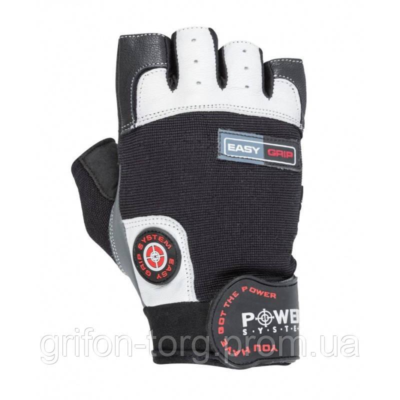 Рукавички для фітнесу і важкої атлетики Power System Easy Grip PS-2670 Black/White L
