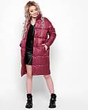 Куртка X-Woyz LS-8890-16 размер 44-46 марсала. Уудлиненная куртка пальто, фото 3