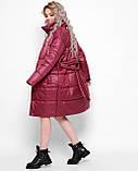 Куртка X-Woyz LS-8890-16 размер 44-46 марсала. Уудлиненная куртка пальто, фото 4