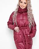 Куртка X-Woyz LS-8890-16 размер 44-46 марсала. Уудлиненная куртка пальто, фото 2