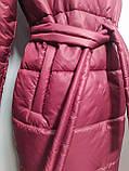 Куртка X-Woyz LS-8890-16 размер 44-46 марсала. Уудлиненная куртка пальто, фото 8