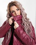 Куртка X-Woyz LS-8890-16 размер 44-46 марсала. Уудлиненная куртка пальто, фото 6
