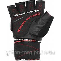Рукавички для фітнесу і важкої атлетики Power System Ultimate Motivation PS-2810 Black Red Line S, фото 2