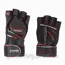 Рукавички для фітнесу і важкої атлетики Power System Ultimate Motivation PS-2810 Black Red Line S, фото 3