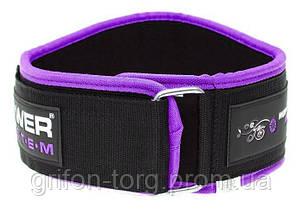 Неопреновий Пояс для важкої атлетики Power System woman's Power PS-3210 Purple XS, фото 2
